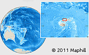 Shaded Relief Location Map of Kavula