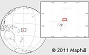 Blank Location Map of Lauthala