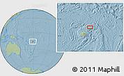 Savanna Style Location Map of Koronatonga, hill shading