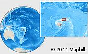 Shaded Relief Location Map of Koronatonga