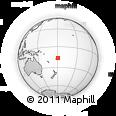Outline Map of Qamea, rectangular outline