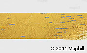 """Physical Panoramic Map of the area around 16°29'14""""S,27°16'29""""E"""