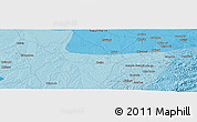 """Political Panoramic Map of the area around 16°29'14""""S,27°16'29""""E"""
