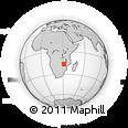 Outline Map of Rushinga Growth Point, rectangular outline