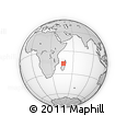 Outline Map of Marosakoakely, rectangular outline