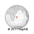 Outline Map of Makoina, rectangular outline