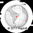 Outline Map of Goiânia, rectangular outline