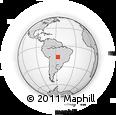 Outline Map of Poconé, rectangular outline