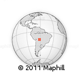 Outline Map of Nueva Venecia, rectangular outline