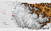"Physical 3D Map of the area around 16° 29' 14"" S, 67° 55' 30"" W"