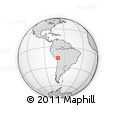 Outline Map of Huacullani, rectangular outline