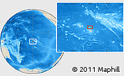 "Shaded Relief Location Map of the area around 16° 59' 54"" S, 149° 31' 30"" W"