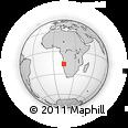 Outline Map of Calueque, rectangular outline