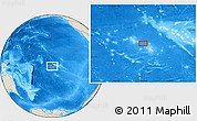 "Shaded Relief Location Map of the area around 16° 59' 54"" S, 150° 22' 30"" W"