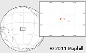 """Blank Location Map of the area around 16°59'54""""S,151°13'29""""W"""