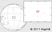"""Blank Location Map of the area around 16°59'54""""S,152°4'29""""W"""
