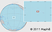"""Gray Location Map of the area around 16°59'54""""S,152°4'29""""W"""