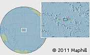 """Savanna Style Location Map of the area around 16°59'54""""S,152°4'29""""W, hill shading"""