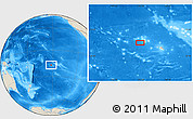 """Shaded Relief Location Map of the area around 16°59'54""""S,152°4'29""""W"""