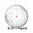 """Outline Map of the Area around 16° 59' 54"""" S, 152° 4' 29"""" W, rectangular outline"""
