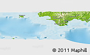 Physical Panoramic Map of Nasavu