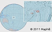 """Gray Location Map of the area around 16°59'54""""S,179°16'30""""W, hill shading"""