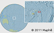 """Savanna Style Location Map of the area around 16°59'54""""S,179°16'30""""W, hill shading"""