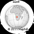 "Outline Map of the Area around 16° 59' 54"" S, 19° 37' 30"" E, rectangular outline"