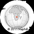 Outline Map of Kalomo, rectangular outline