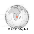 "Outline Map of the Area around 16° 59' 54"" S, 30° 40' 29"" E, rectangular outline"