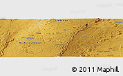 """Physical Panoramic Map of the area around 16°59'54""""S,30°40'29""""E"""
