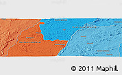 """Political Panoramic Map of the area around 16°59'54""""S,30°40'29""""E"""