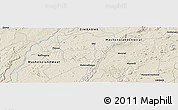 """Shaded Relief Panoramic Map of the area around 16°59'54""""S,30°40'29""""E"""