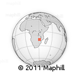 Outline Map of Mgadzi, rectangular outline