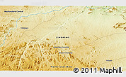 """Physical 3D Map of the area around 16°59'54""""S,32°22'30""""E"""