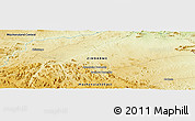 """Physical Panoramic Map of the area around 16°59'54""""S,32°22'30""""E"""