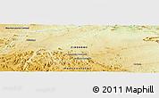 Physical Panoramic Map of Sutskwe Township