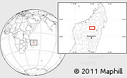 Blank Location Map of Tsaratanana
