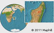 Satellite Location Map of Tsaratanana