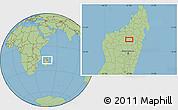 Savanna Style Location Map of Tsaratanana