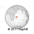 "Outline Map of the Area around 16° 59' 54"" S, 50° 13' 30"" E, rectangular outline"