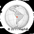 Outline Map of Alto Achacana, rectangular outline