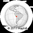 Outline Map of Moquegua, rectangular outline