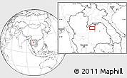 Blank Location Map of Loei