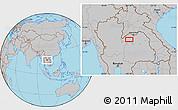 Gray Location Map of Loei