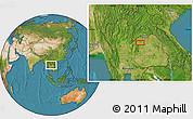 Satellite Location Map of Loei