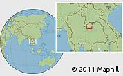 Savanna Style Location Map of Loei