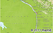 "Physical Map of the area around 17° 20' 20"" N, 104° 37' 30"" E"