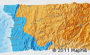 Political 3D Map of Bontoc