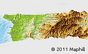 """Physical Panoramic Map of the area around 17°20'20""""N,120°46'30""""E"""